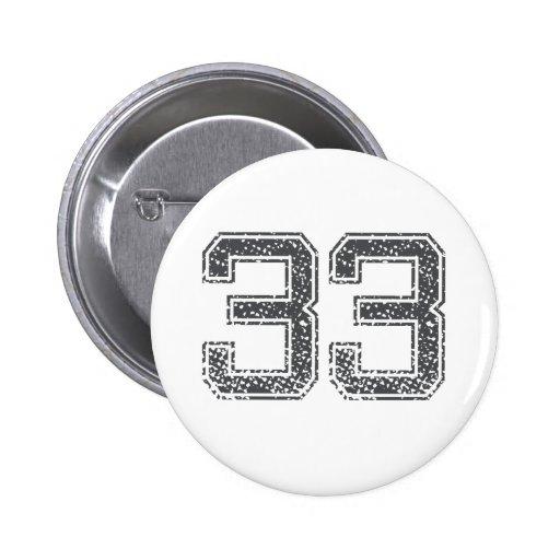 Gray Sports Jersey #33 Pins