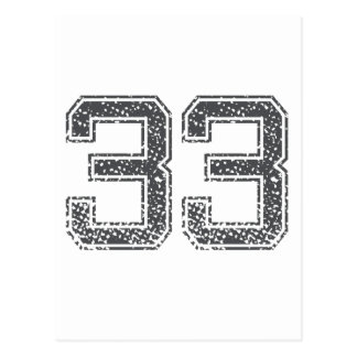 Gray Sports Jersey #33 Post Cards
