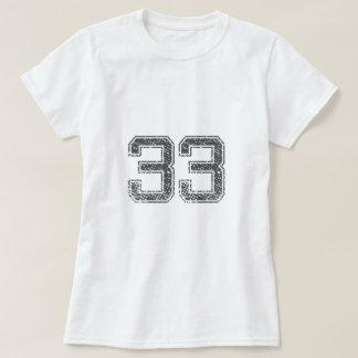 Gray Sports Jersey #33 T-Shirt