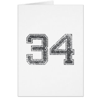 Gray Sports Jersey #34 Card