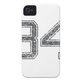 Gray Sports Jersey #34 iPhone 4 Case-Mate Cases