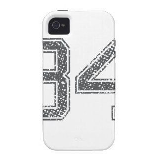 Gray Sports Jersey #34 Case-Mate iPhone 4 Case