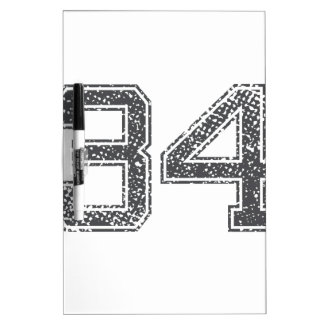 Gray Sports Jersey #34 Dry-Erase Boards
