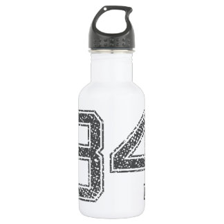 Gray Sports Jersey #34 Stainless Steel Water Bottle