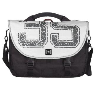 Gray Sports Jersey #35 Laptop Commuter Bag