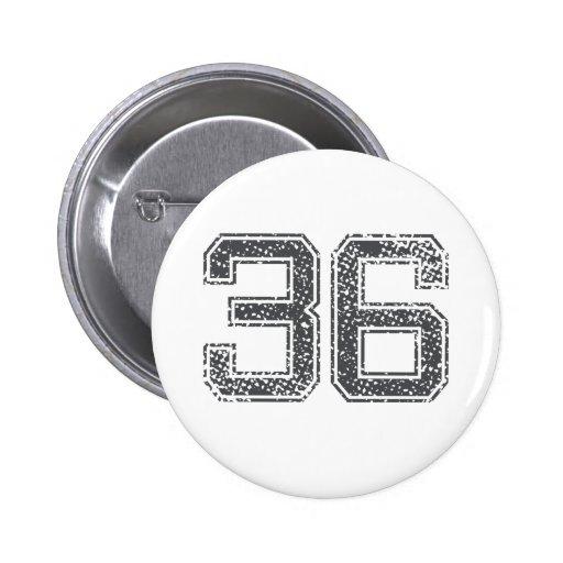 Gray Sports Jersey #36 Pin