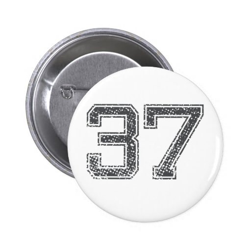 Gray Sports Jersey #37 Buttons