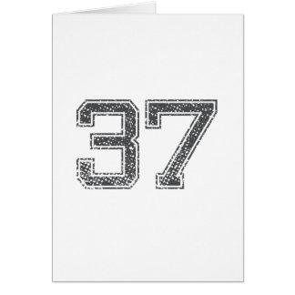 Gray Sports Jersey #37 Card