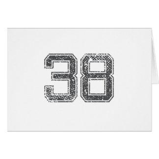 Gray Sports Jersey #38 Card