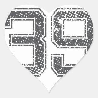 Gray Sports Jersey 39 Sticker