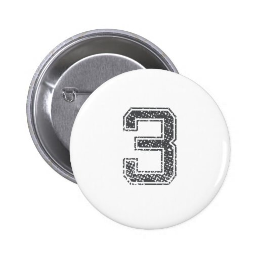 Gray Sports Jersey #3 Buttons