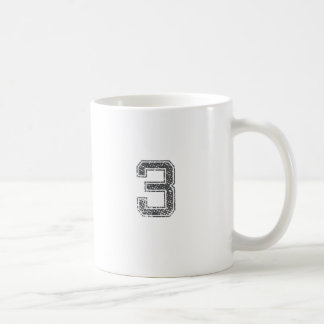 Gray Sports Jersey #3 Coffee Mug