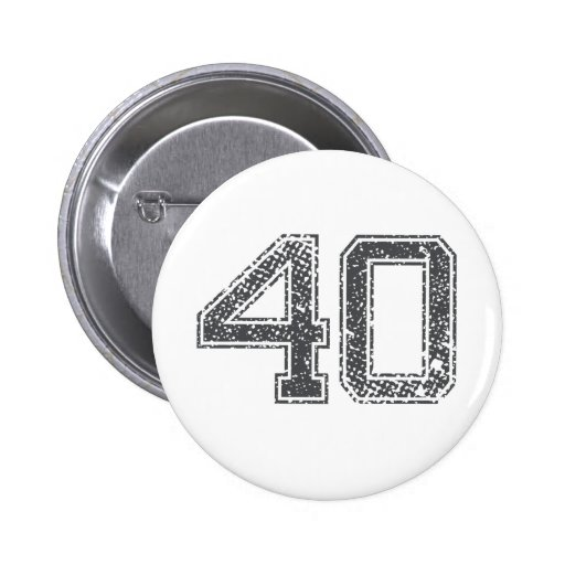 Gray Sports Jersey #40 Pinback Buttons