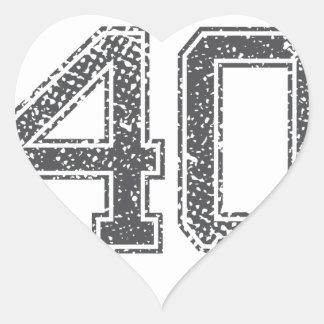 Gray Sports Jersey #40 Heart Sticker
