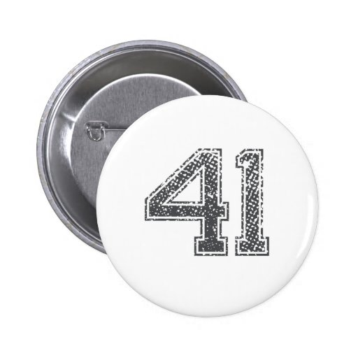 Gray Sports Jersey #41 Buttons