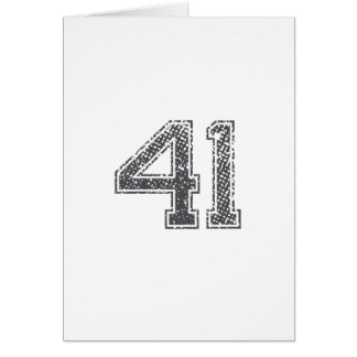 Gray Sports Jersey #41 Card