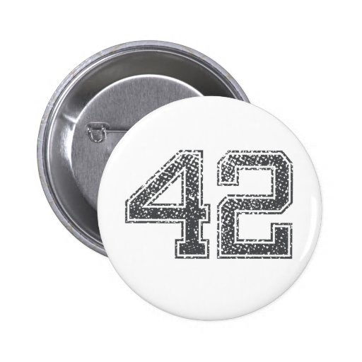Gray Sports Jersey #42 Button