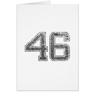 Gray Sports Jersey #46 Card