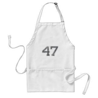 Gray Sports Jersey #47 Apron