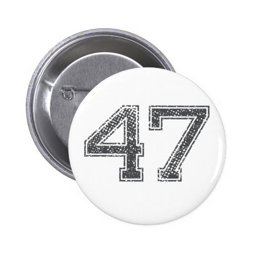 Gray Sports Jersey #47 Button