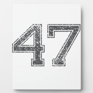 Gray Sports Jersey 47 Photo Plaques