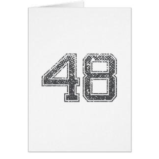 Gray Sports Jersey #48 Card