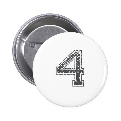 Gray Sports Jersey #4 Pinback Buttons