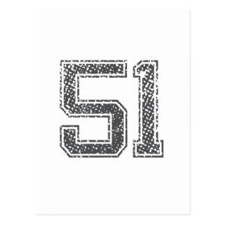 Gray Sports Jersey #51 Postcard