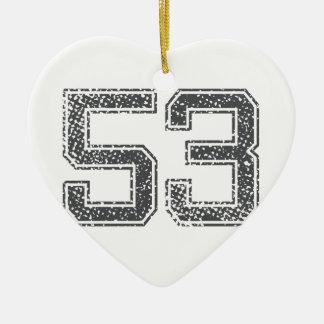 Gray Sports Jersey #53 Ceramic Ornament