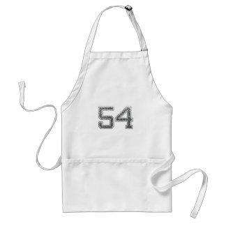 Gray Sports Jersey #54 Aprons