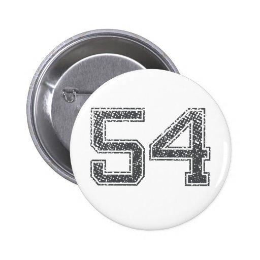 Gray Sports Jersey #54 Pins