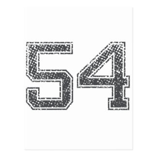 Gray Sports Jersey #54 Postcard