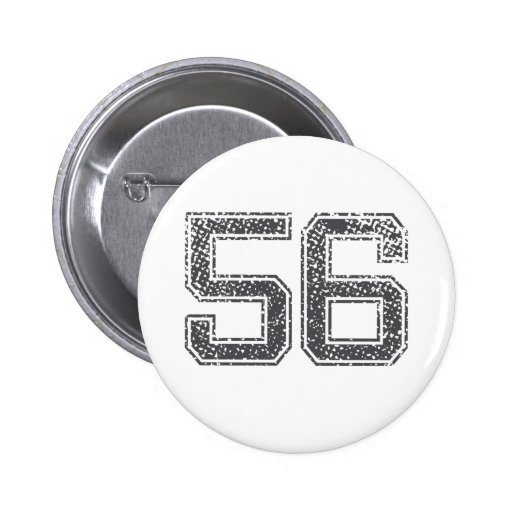 Gray Sports Jersey #56 Buttons