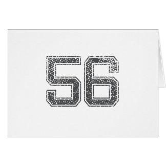 Gray Sports Jersey #56 Card