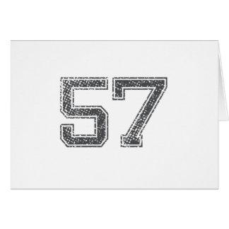 Gray Sports Jersey #57 Card