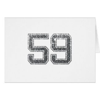 Gray Sports Jersey #59 Card