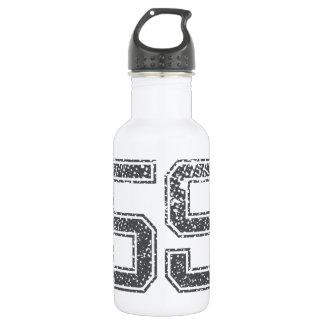 Gray Sports Jersey #59 Stainless Steel Water Bottle