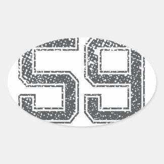 Gray Sports Jersey #59 Sticker