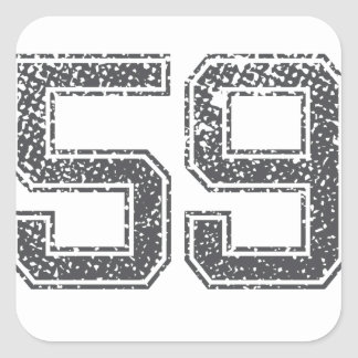 Gray Sports Jersey #59 Square Stickers
