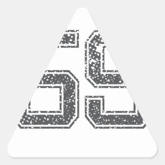 Gray Sports Jersey #59 Triangle Sticker