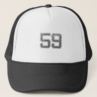 Gray Sports Jersey #59 Trucker Hat