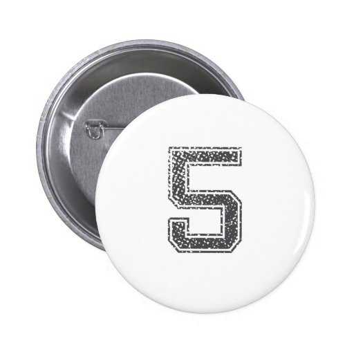 Gray Sports Jersey #5 Button