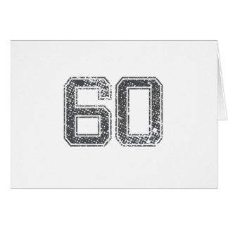 Gray Sports Jersey #60 Card
