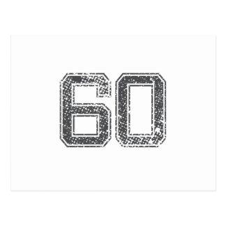 Gray Sports Jersey #60 Postcard