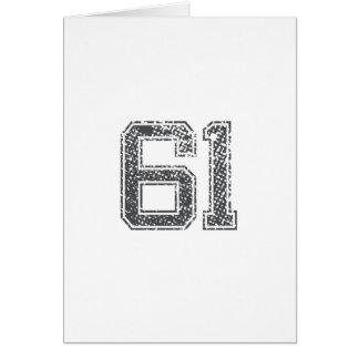 Gray Sports Jersey #61 Card