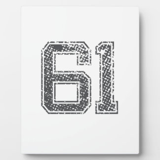 Gray Sports Jersey 61 Display Plaques