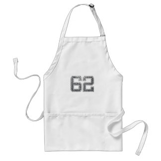 Gray Sports Jersey #62 Aprons