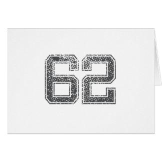 Gray Sports Jersey #62 Card