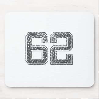 Gray Sports Jersey #62 Mouse Pad