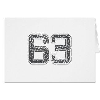 Gray Sports Jersey #63 Card